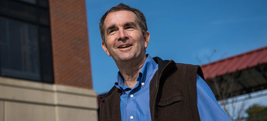 Ralph Northam, the next governor of Virginia. (photo: WP/Getty IMages)