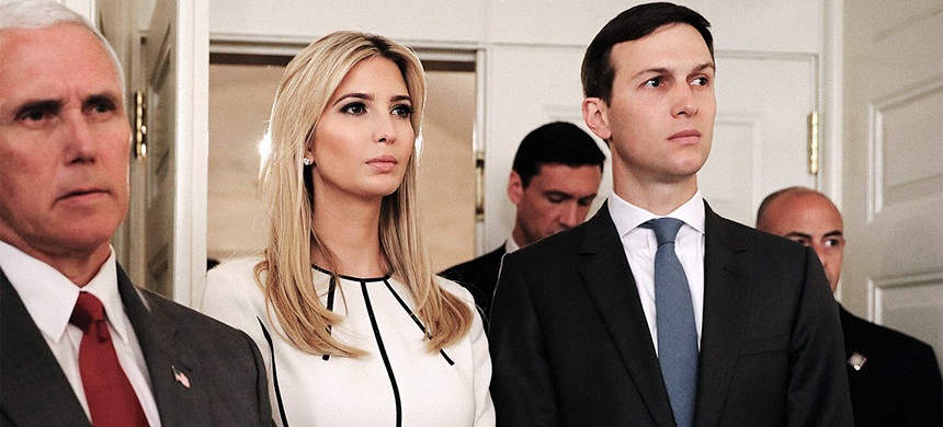 Ivanka Trump and Jared Kushner in the Diplomatic Room, June 14, 2017. (photo: Chip Somodevilla/Getty Images)