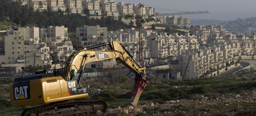 A construction site at an illegal Israeli settlement. (photo: Getty)