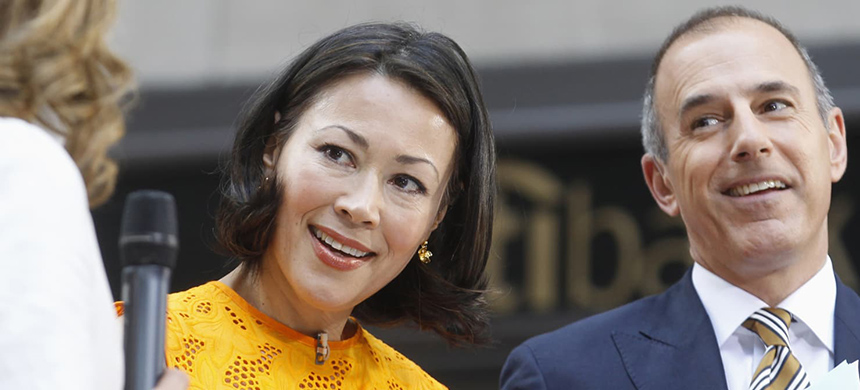 Ann Curry and Matt Lauer. (photo: Brendan McDermid)
