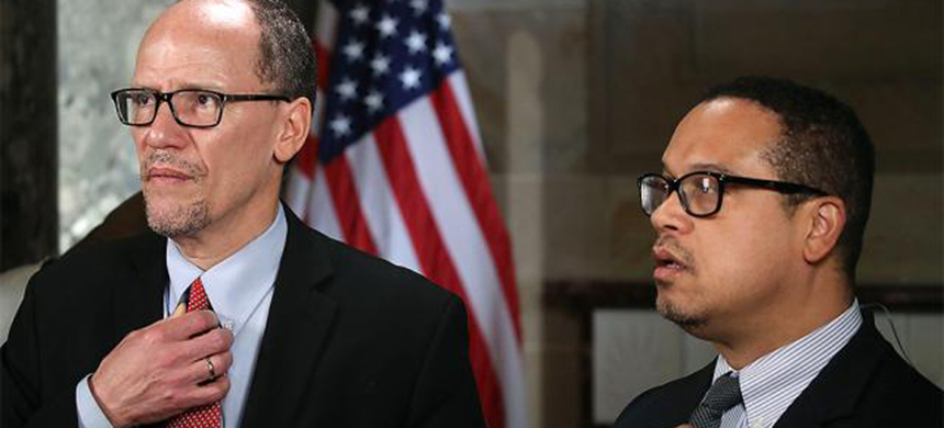Tom Perez and Keith Ellison. (photo: Getty Images)