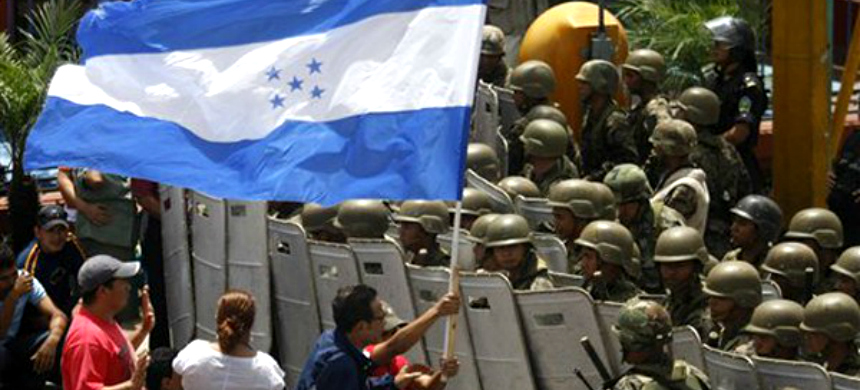 A protest in Honduras. (photo: DH Noticias)