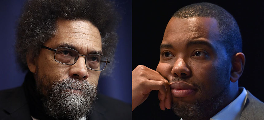 Cornel West and Ta-Nehisi Coates. (photo: Win McNamee/Getty Images/Lionel Urman/SIPA)