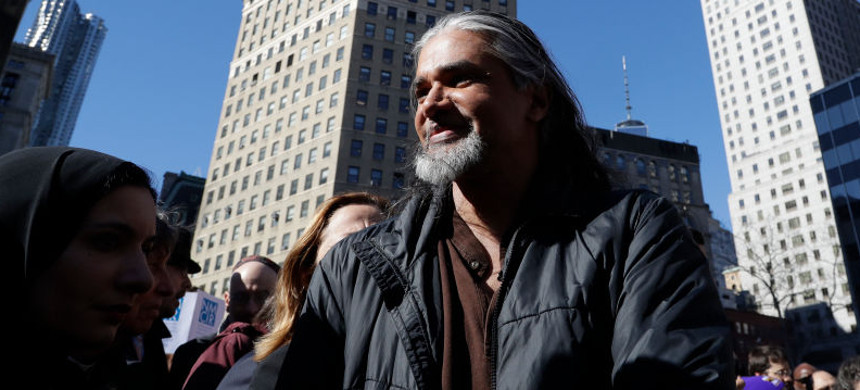 Prominent immigrant rights activist Ravi Ragbir was arrested by ICE. (photo: AP)