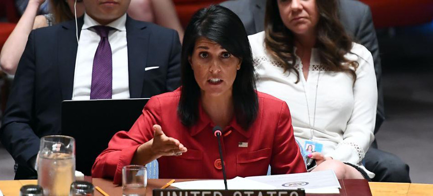 UN ambassador Nikki Haley. (photo: Getty)