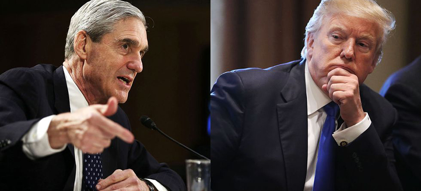 Robert Mueller and Donald Trump. (photo: Getty Images)