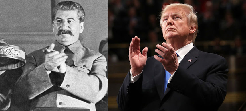 Joseph Stalin and Donald Trump. (photo: Getty Images)