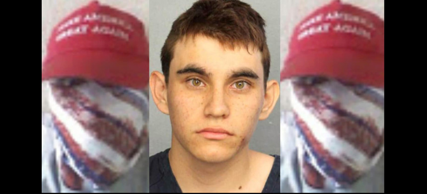 A hate group claims the Florida school shooter did paramilitary exercises and got a rifle from its members. (photo: The Daily Beast)