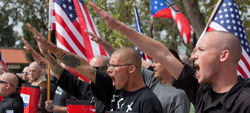 Nazi rally. (photo: AP)
