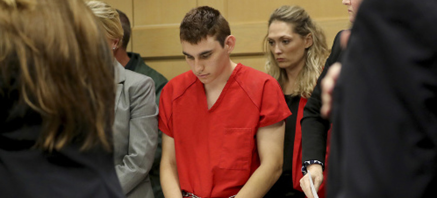Nikolas Cruz, the man accused of shooting and killing 17 at a Florida high school, was back in court Monday for a status hearing. (photo: AP)