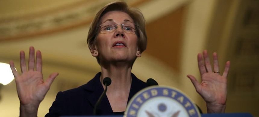 Senator Elizabeth Warren. (photo: Justin Sullivan/Getty)