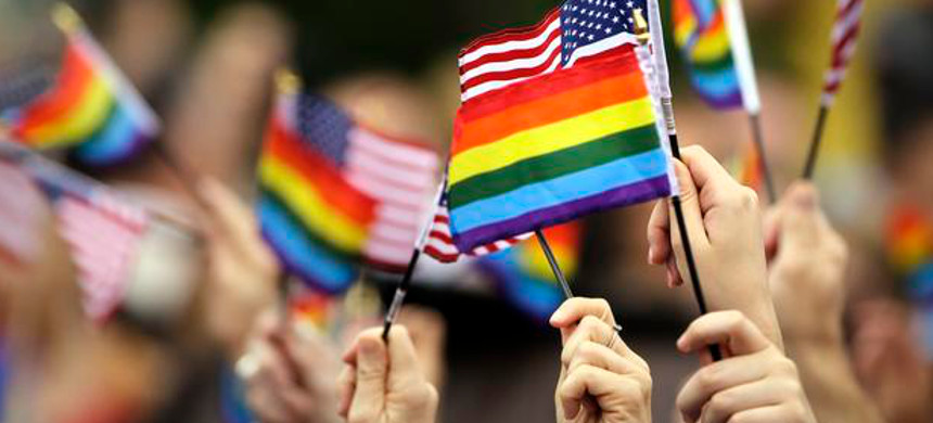 LGBT flags. (photo: Matt Rourke/AP)