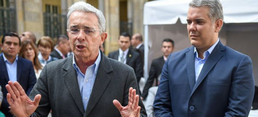 Former president Álvaro Uribe's party won the most seats - while its presidential contender Iván Duque, right, secured his candidacy. (photo: AFP)