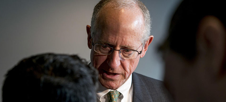 Representative Mike Conaway, R-TX, a member of the House Intelligence Committee, speaks to members of the media on January 18, 2018. (photo: Andrew Harnik/AP)