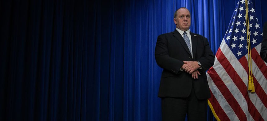 ICE Acting Director Thomas Homan is seen at the agency's Washington headquarters in 2017. (photo: Salwan Georges/WP)