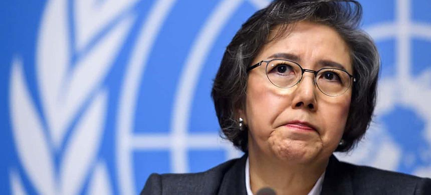 Yanghee Lee, the UN human rights rapporteur on Myanmar, says the government must be held accountable for the fate of the Rohingya. (photo: Fabrice Coffrini/AFP/Getty Images)