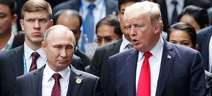 The sanctions announced Thursday represent the Trump administration's most significant actions to date against Russia for its aggression against the United States. (photo: Jorge Silva/Getty)