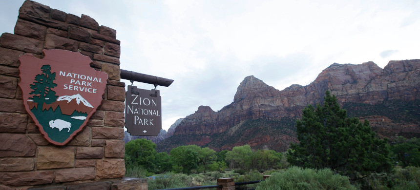 Entrance to Zion National Park. (photo: Getty)