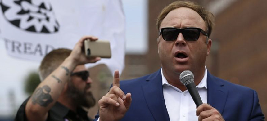 Alex Jones from Infowars.com speaks during a rally in support of Republican presidential candidate Donald Trump near the Republican National Convention in Cleveland, Ohio, U.S. July 18, 2016. (photo: Lucas Jackson/Reuters)
