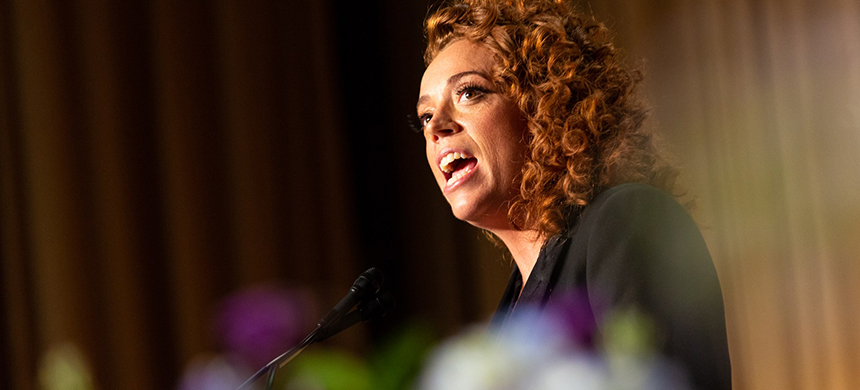Michelle Wolf's routine was only as obscene as the presidency itself. (photo: Cheriss May/NurPhoto/Getty Images)