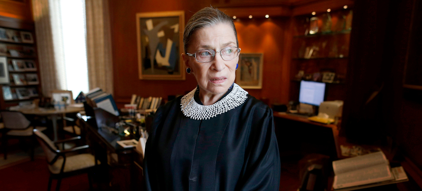 U.S. Supreme Court Justice Ruth Bader Ginsburg poses for a photo in her chambers. (photo: AP)
