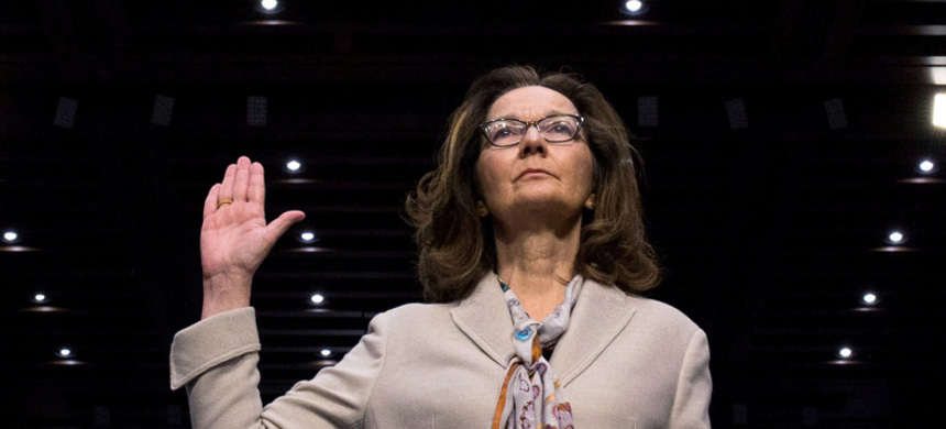 Gina Haspel taking her oath during her confirmation hearing. (photo: Getty)
