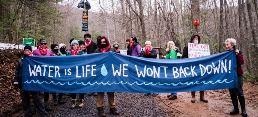Mountain Valley Pipeline protesters. (photo: Blue Virgina)
