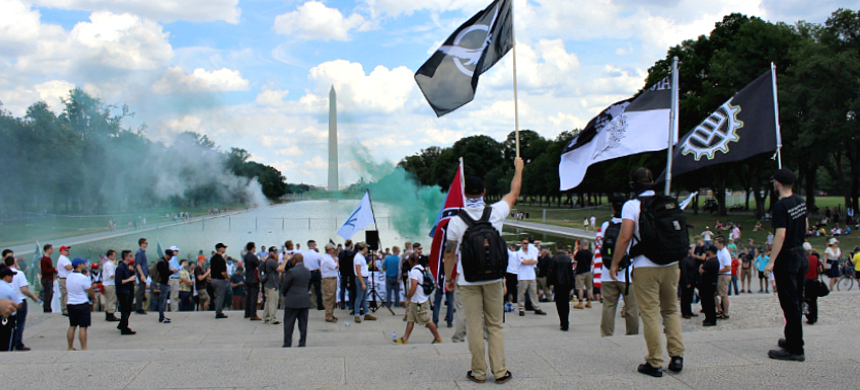 White supremacists rallying in Washington, D.C. (photo: Andrew Stefan/RSN)