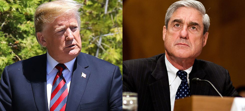 Donald Trump and Robert Mueller. (photo: Getty Images)