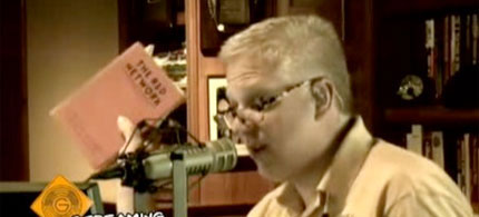 Glenn Beck on air promoting Elizabeth Dilling's book, 'The Red Network,' 06/06/10. (photo: Glenn Beck Radio)