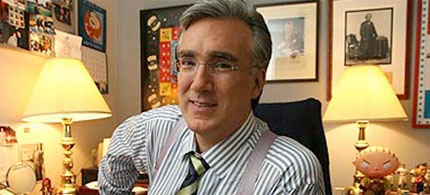File photo, Keith Olbermann in his MSNBC office, 11/10/08. (photo: Chester Higgins Jr./NYT)