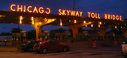 The Chicago Skyway Toll Bridge System is leased to Cintra-Macquarie, a joint venture between Spanish and Australian companies, 09/22/05. (photo: flickr/Josh Evnin)
