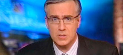 Keith Olbermann delivers a Special Comment on MSNBC, 06/15/09. (image: MSNBC)