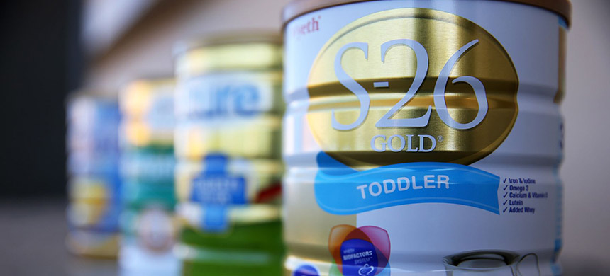The Trump administration is siding with industry on a forthcoming United Nations guideline for 'follow-up' formulas or 'growing-up milks,' baby formula marketed for children over 6 months of age. (photo: Fiona Goodall/Getty Images)