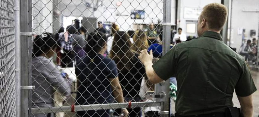 Undocumented immigrants at a U.S. Border Patrol processing center in McAllen, Texas. (photo: Reuters)