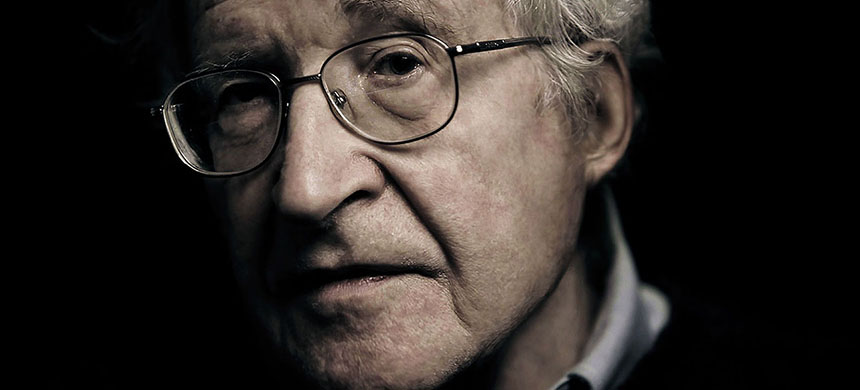 Noam Chomsky. (photo: e-flux)