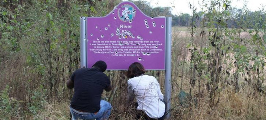 The second sign in 2016. (photo: Emmett Till Interpretive Center)