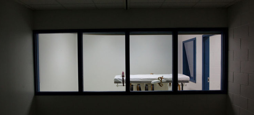 Execution chamber. (photo: Nebraska Department of Correctional Services/AP)