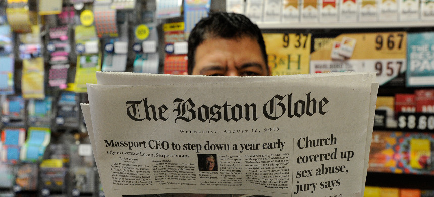 The Boston Globe organized the editorial push, which was joined by the New York Times. (photo: Getty)