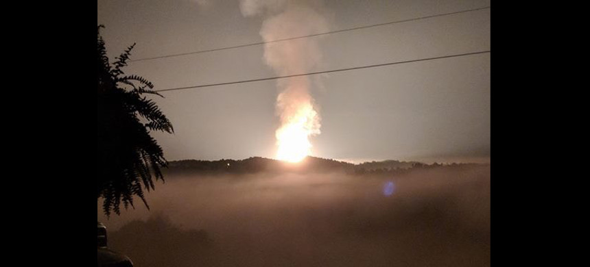 A Pipeline exploded in West Virginia. (photo: ABC)