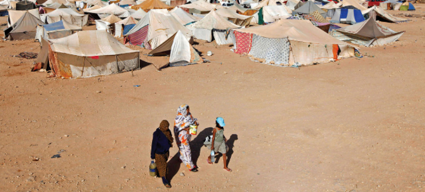 Thousands of Sahrawi men, women and children set up Gdeim Izik, a protest camp, in an act of mass protest against their continuing marginalization under the decades-long Moroccan occupation of their land. (photo: ACCORD)