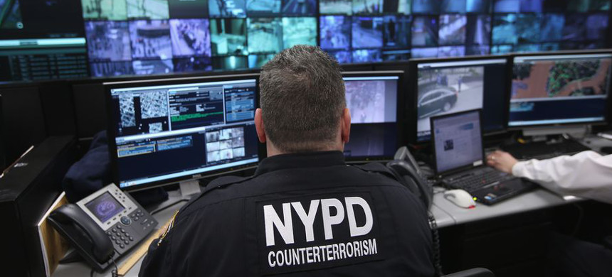 IBM's software was reportedly developed and tested on surveillance cameras run through NYPD's Lower Manhattan Security Initiative (pictured). (photo: John Moore/Getty)