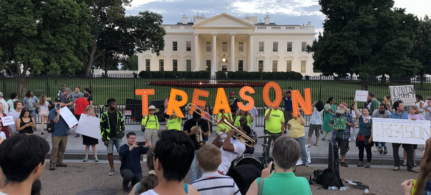 A protest in front of the White House in July of 2018. (photo: @AdamParkhomenko/Twitter)