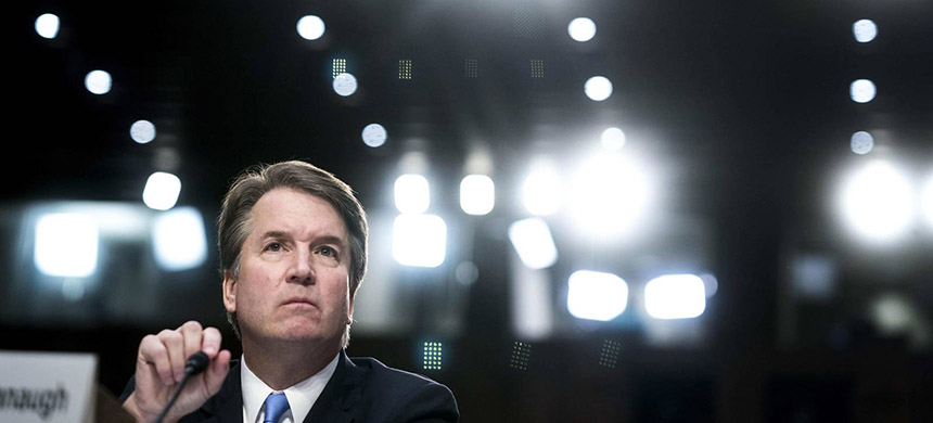 Supreme Court nominee Brett Kavanaugh during his confirmation hearing in the Senate Judiciary Committee on Capitol Hill in Washington, DC on Thursday September 6, 2018. (photo: Washington Post/Getty Images)