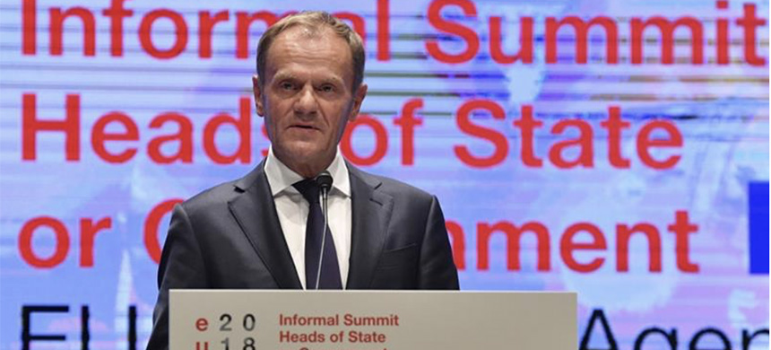 European Council President Donald Tusk said key aspects of Theresa May's proposed Brexit plan 'will not work.' (photo: Kerstin Joensson/AP)