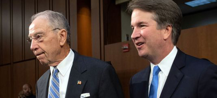 Chuck Grassley and Brett Kavanaugh. (photo: Saul Loeb/Getty Images)