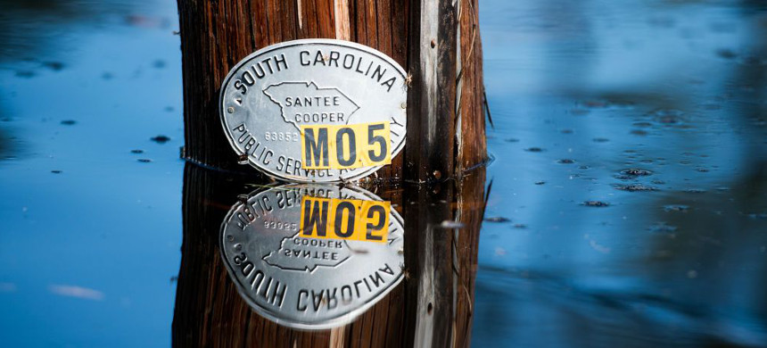 Nearly two weeks after making landfall in North Carolina. (photo: Sean Rayford/Getty)