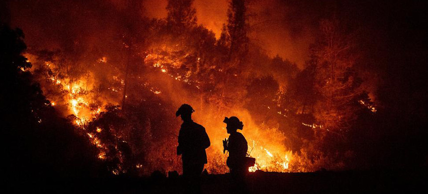 Climate change will drive an increase of extreme weather events, like droughts, which can lead to wildfires. (photo: AP)