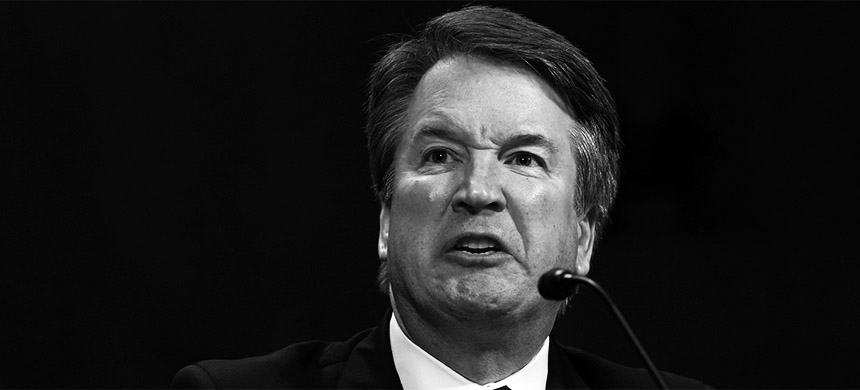 Judge Brett Kavanaugh turns contentious during a Senate Judiciary Committee Hearing to hear evidence that he sexually assaulted then Christine Blasey in 1982. (photo: Andrew Harnik/Getty Images)