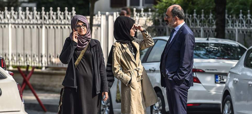 The fiancee of Jamal Khashoggi. (photo: Getty)